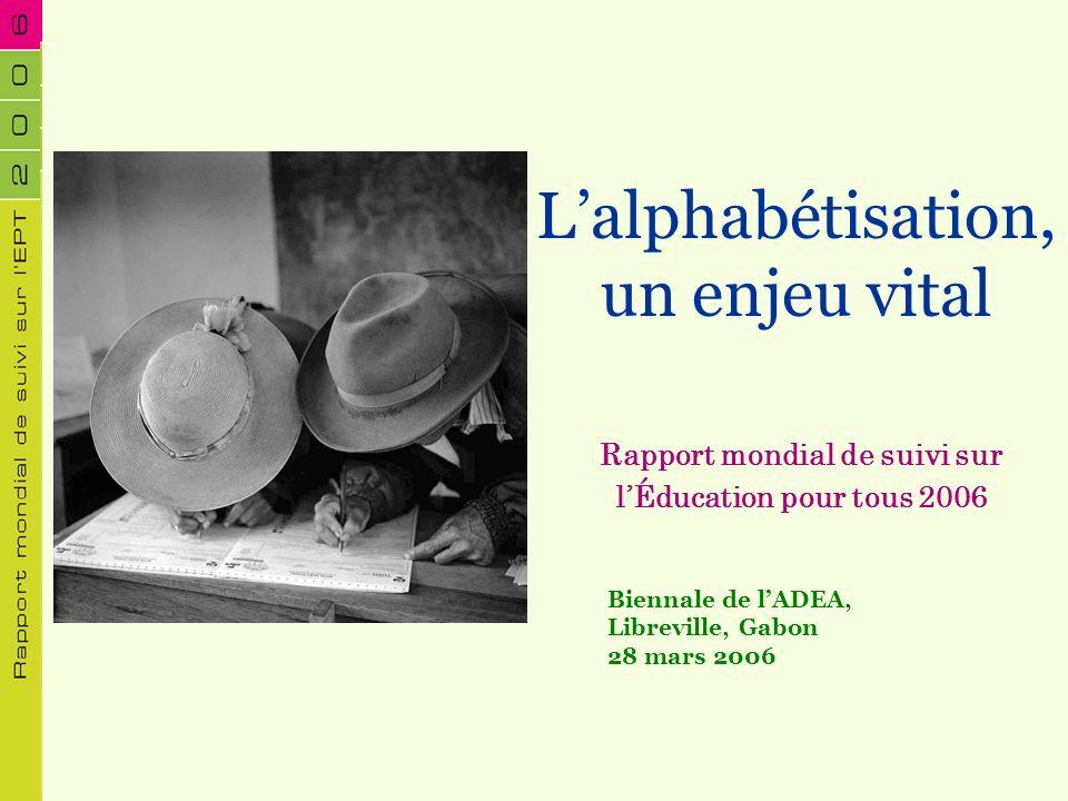 Rapport mondial de suivi sur l'Éducation pour tous 2006