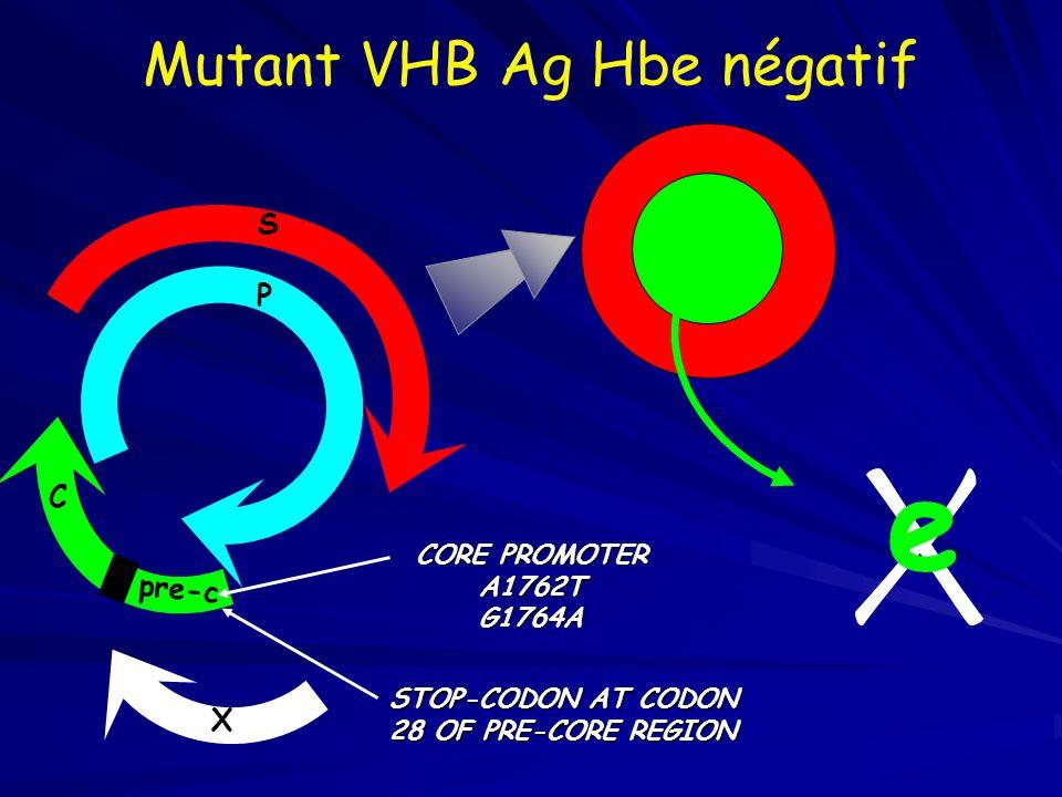 Mutant VHB Ag Hbe négatif