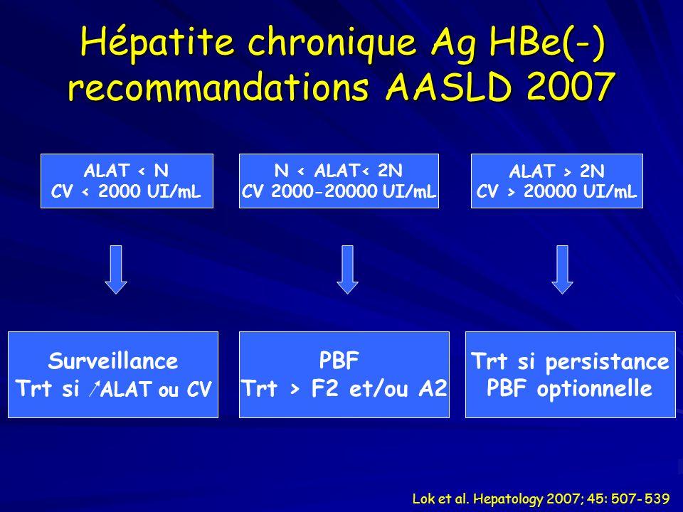 Hépatite chronique Ag HBe(-) recommandations AASLD 2007