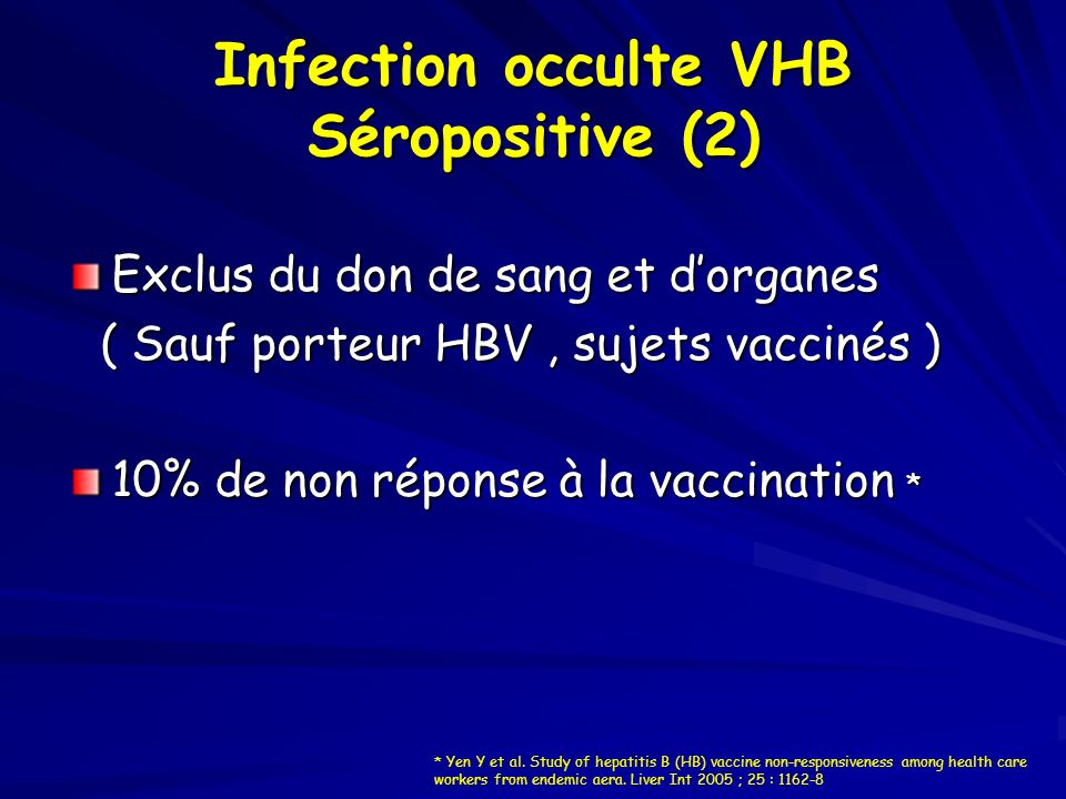 Infection occulte VHB Séropositive (2)