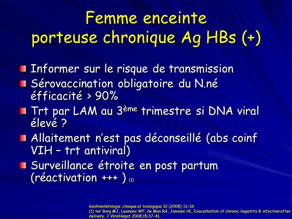 Femme enceinte porteuse chronique Ag HBs (+)