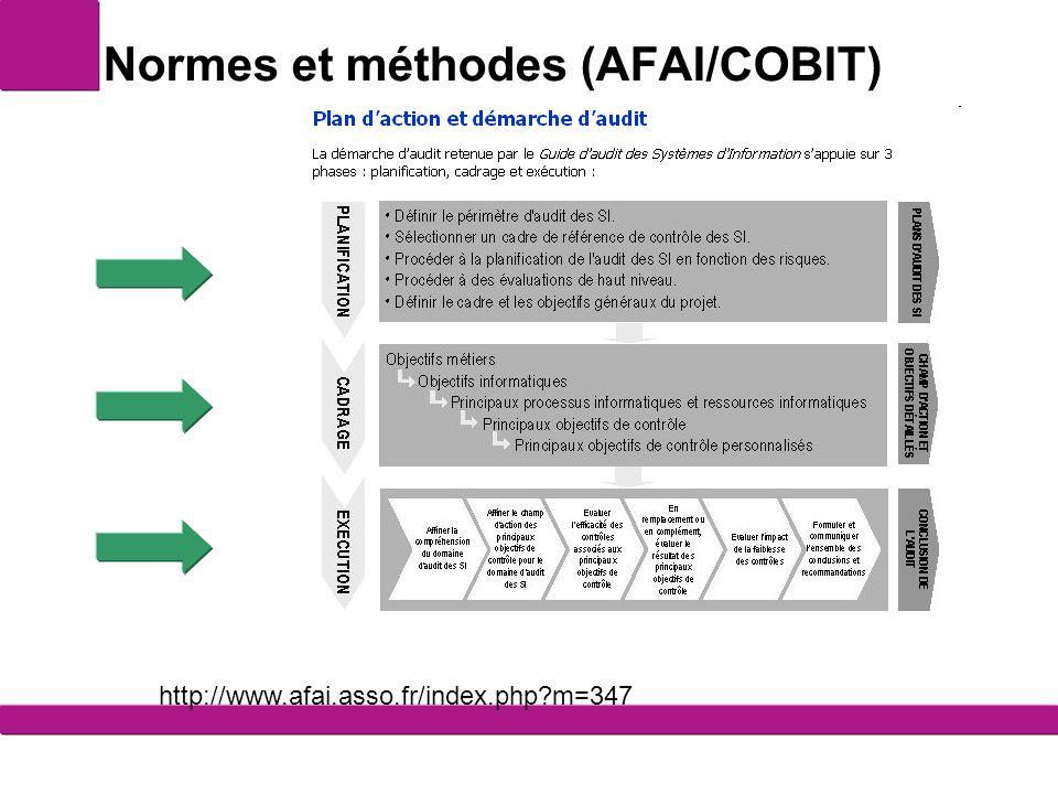 Normes et méthodes (AFAI/COBIT)