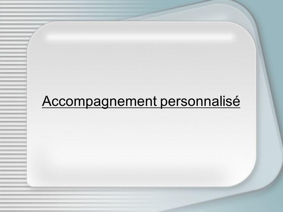 Accompagnement personnalisé