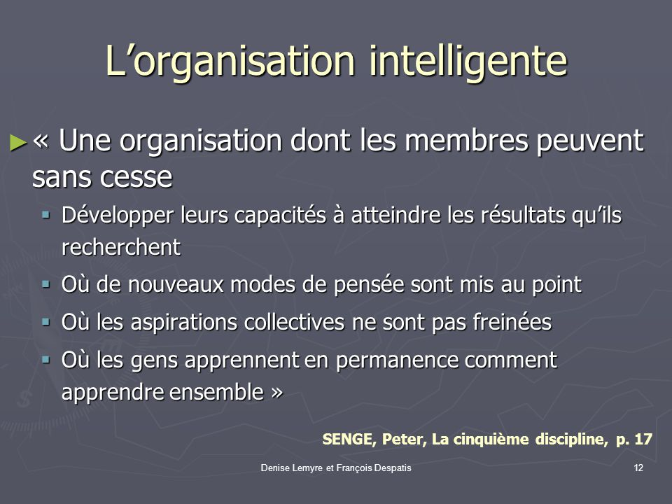 L'organisation intelligente