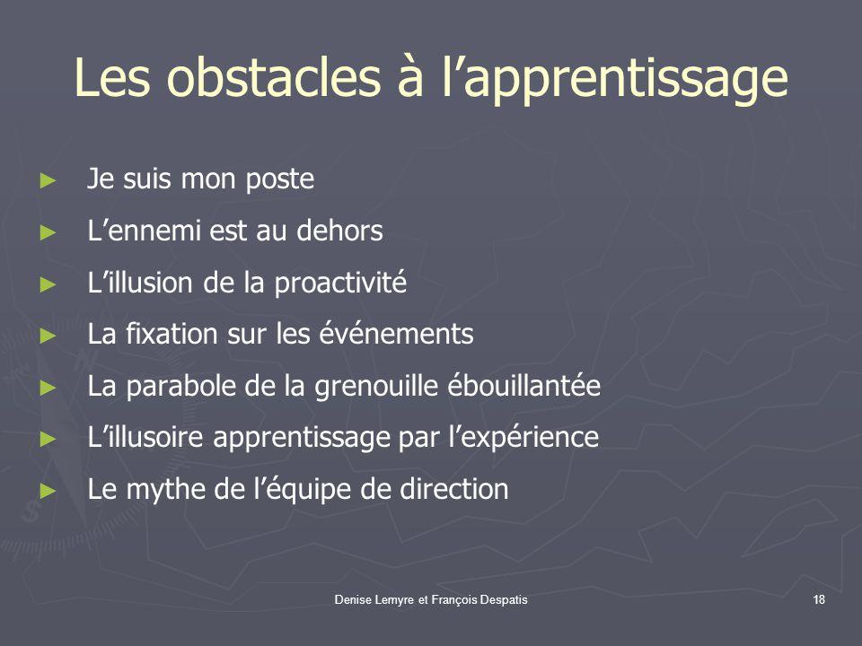 Les obstacles à l'apprentissage