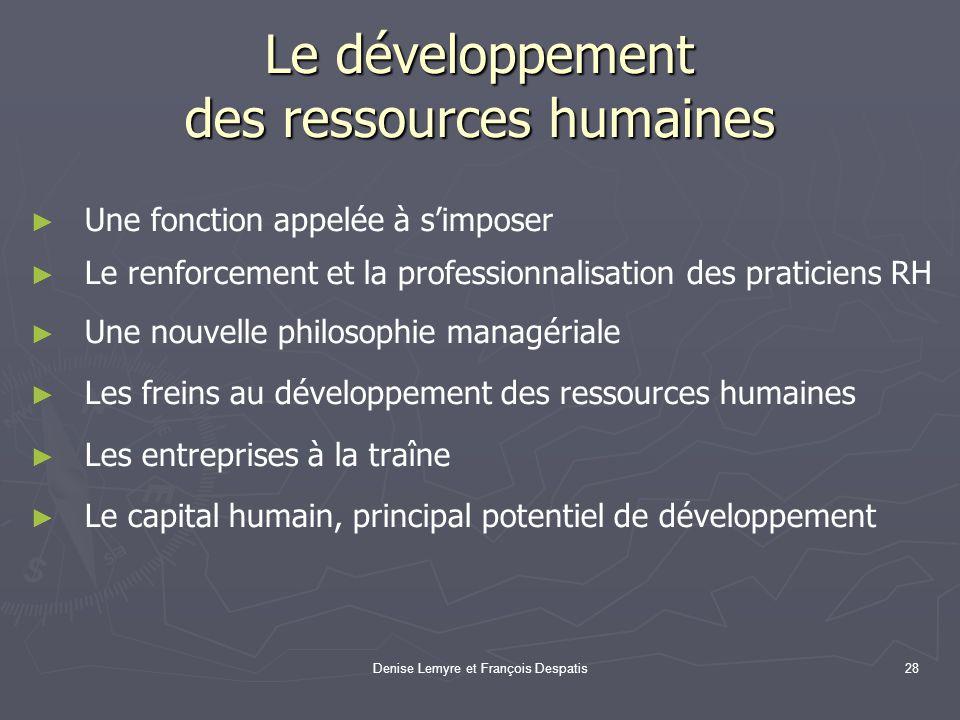 Le développement des ressources humaines