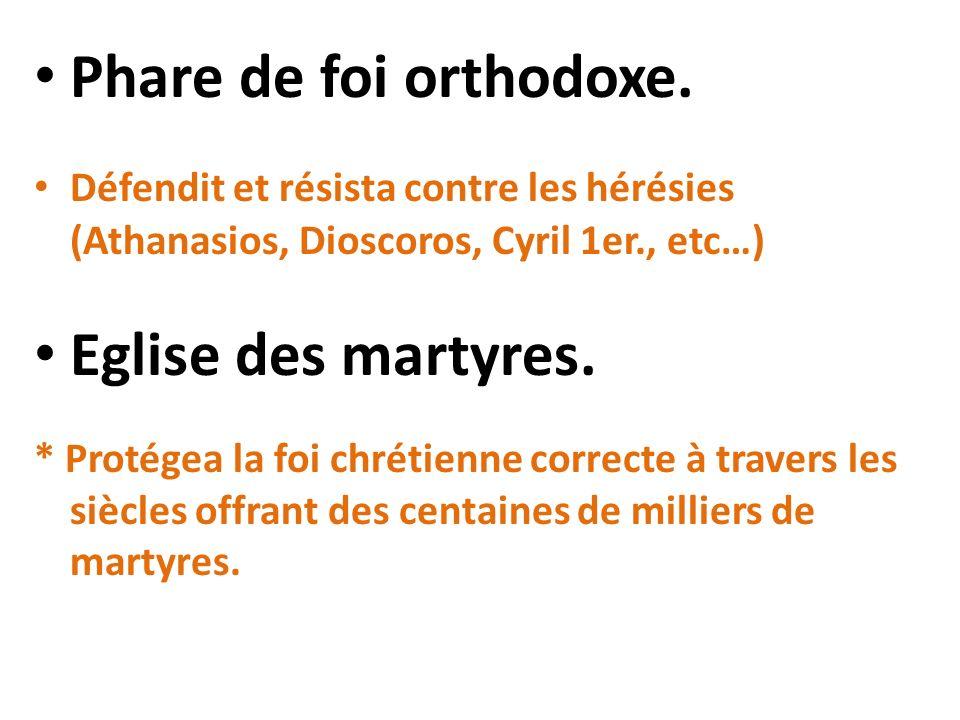 Phare de foi orthodoxe. Eglise des martyres.