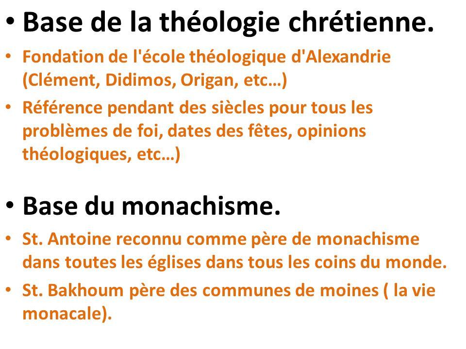 Base de la théologie chrétienne.