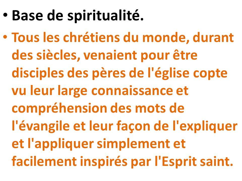 Base de spiritualité.