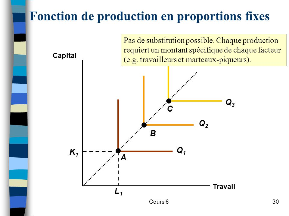 Fonction de production en proportions fixes