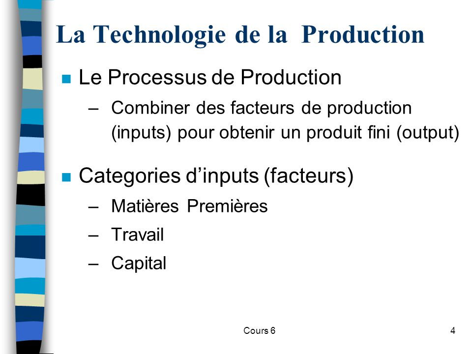 La Technologie de la Production
