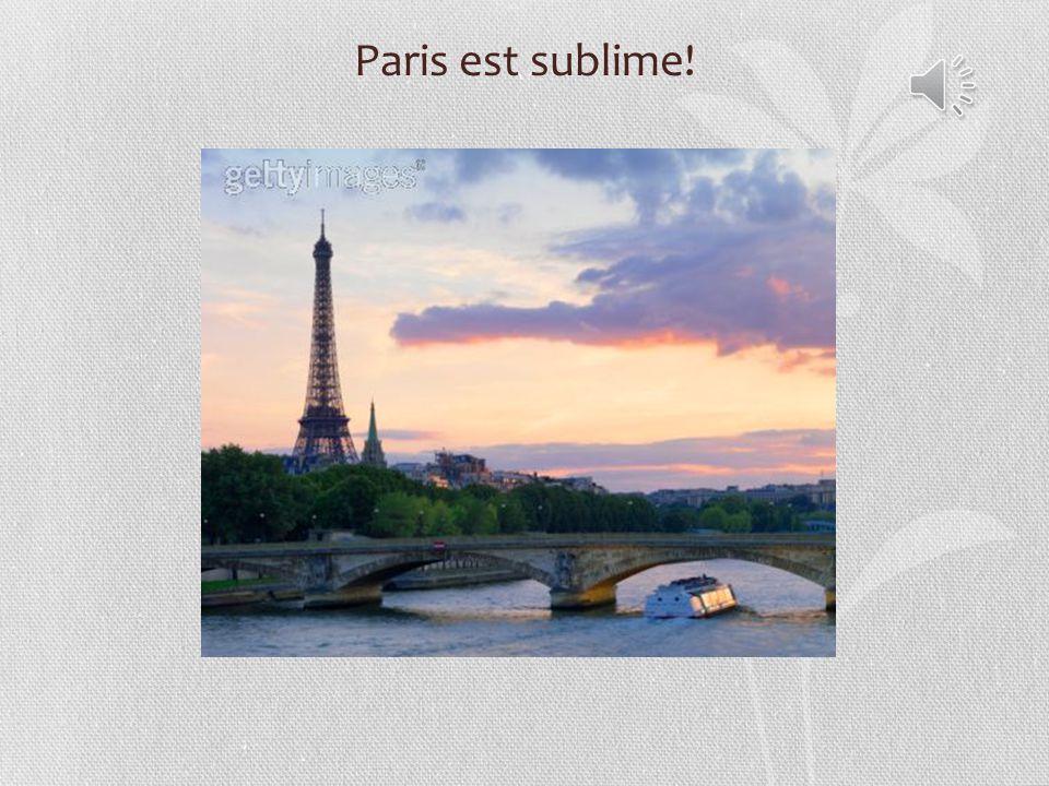 Paris est sublime!