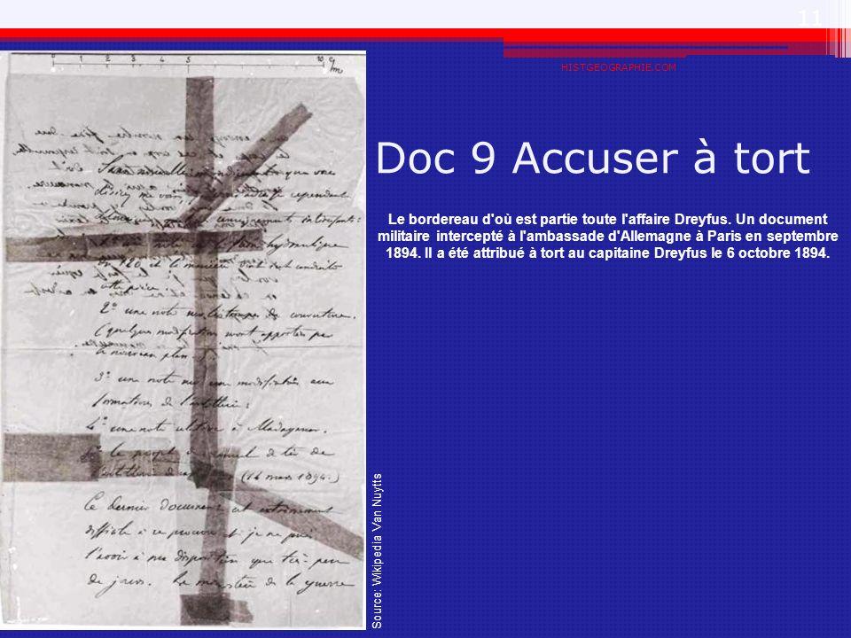 HISTGEOGRAPHIE.COM Doc 9 Accuser à tort.