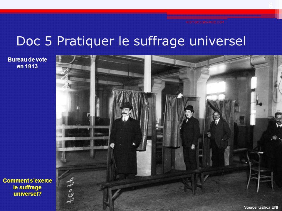 Doc 5 Pratiquer le suffrage universel