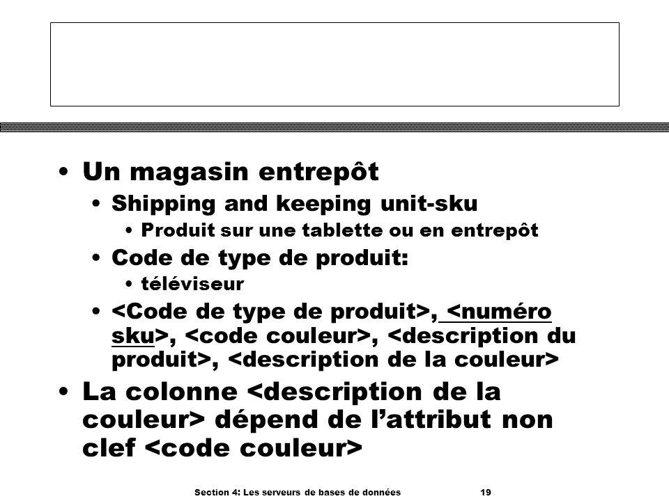 Section 4: Les serveurs de bases de données 19