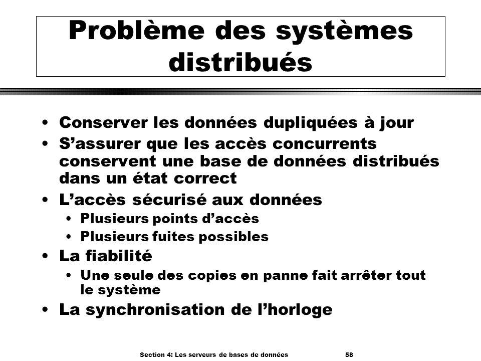 Problème des systèmes distribués