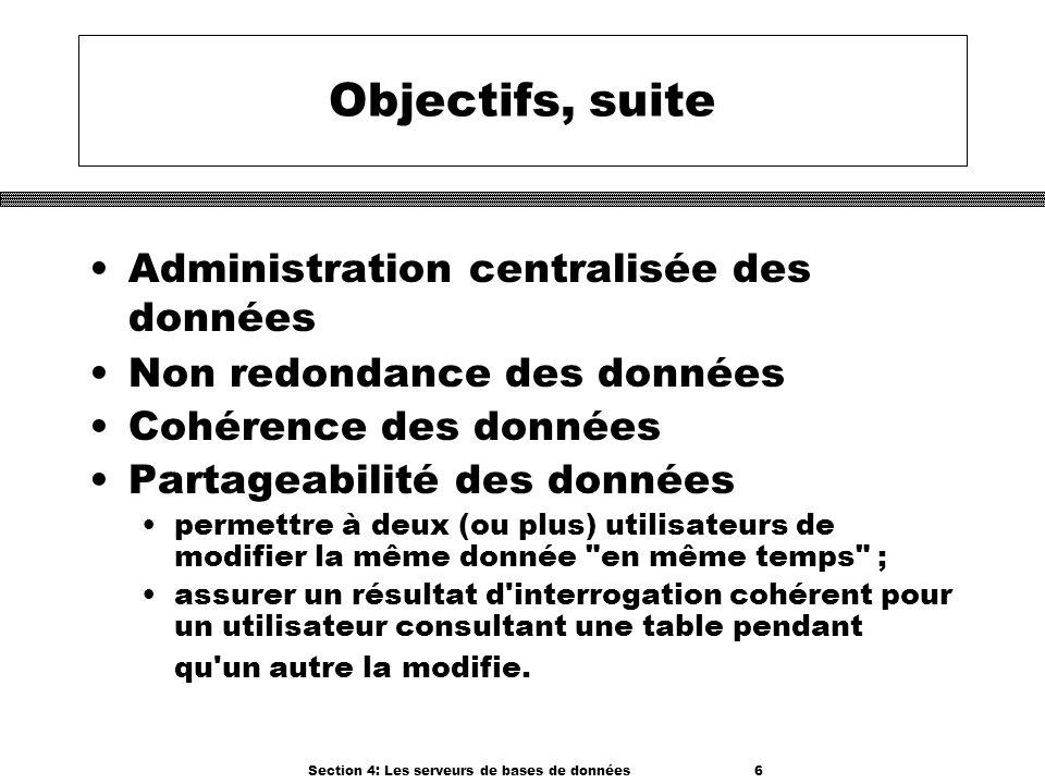 Section 4: Les serveurs de bases de données 6