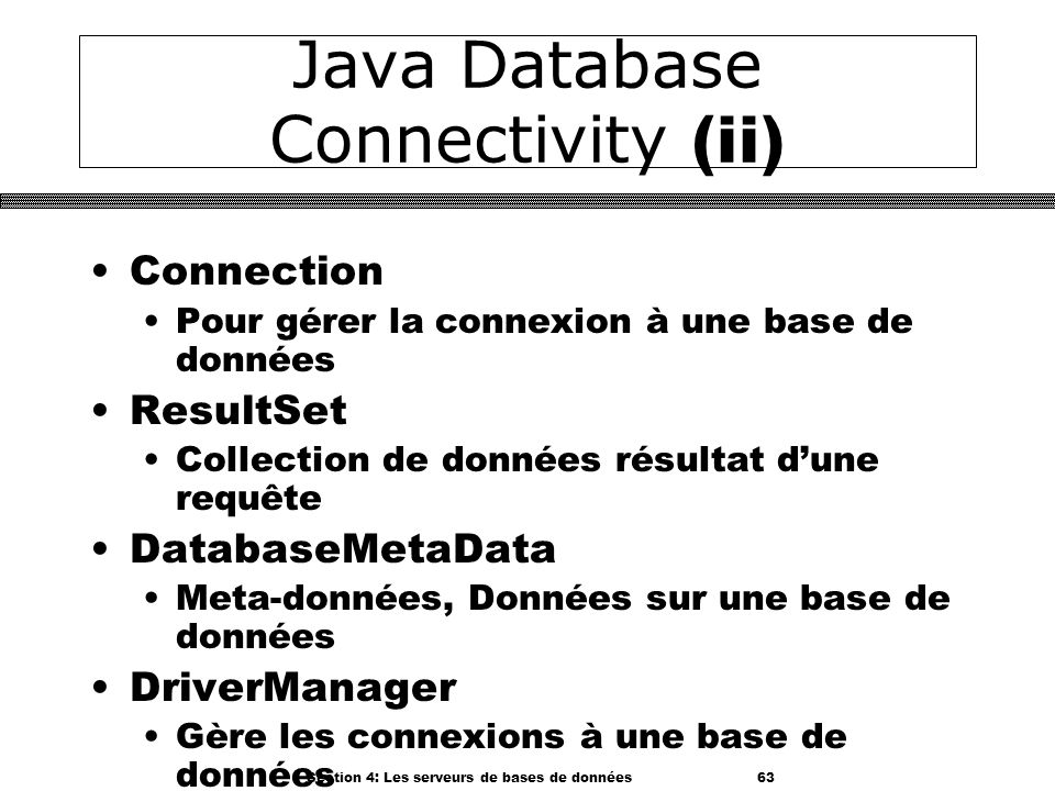 Java Database Connectivity (ii)