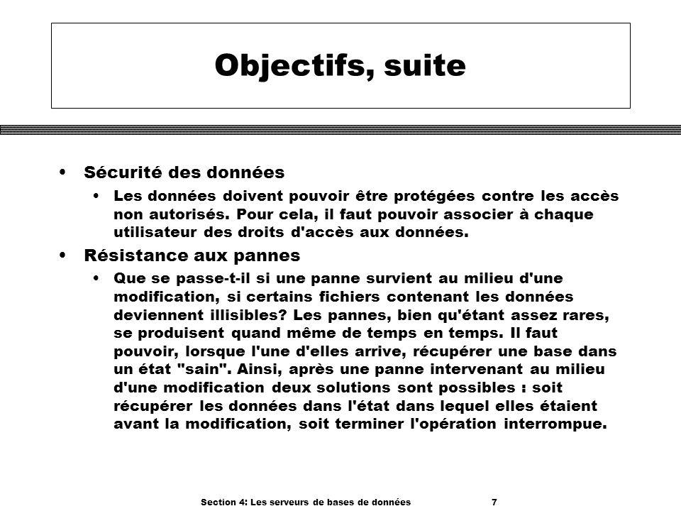 Section 4: Les serveurs de bases de données 7
