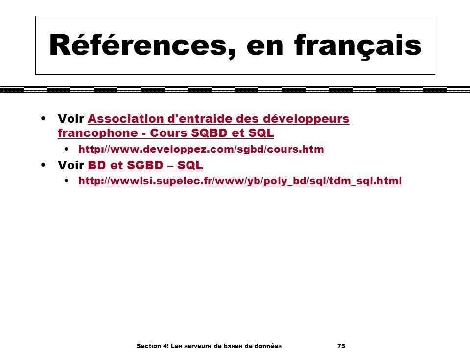 Références, en français