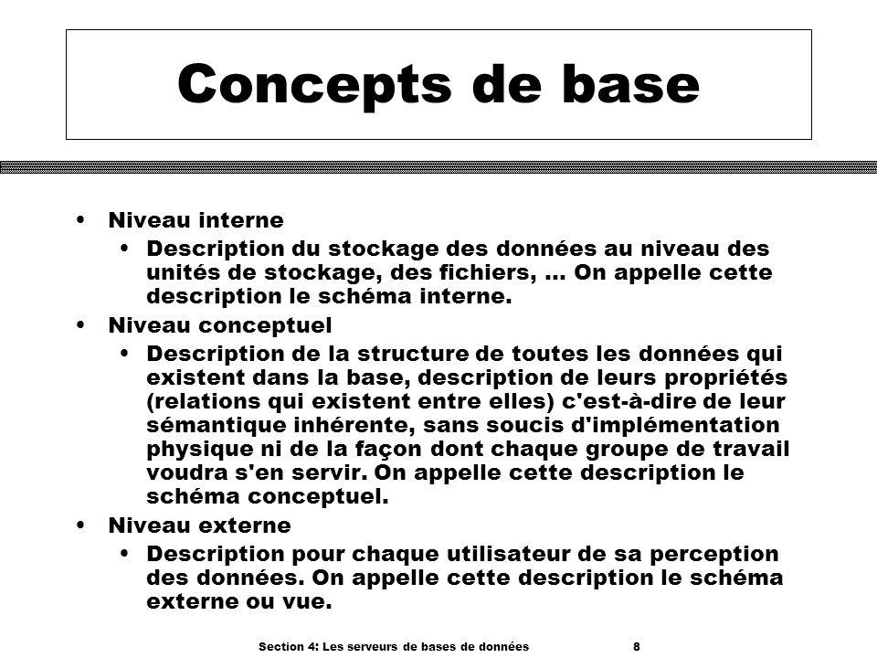 Section 4: Les serveurs de bases de données 8