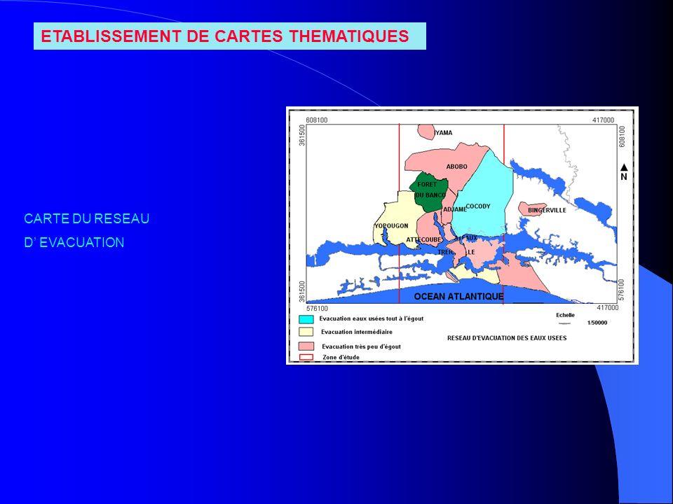 ETABLISSEMENT DE CARTES THEMATIQUES