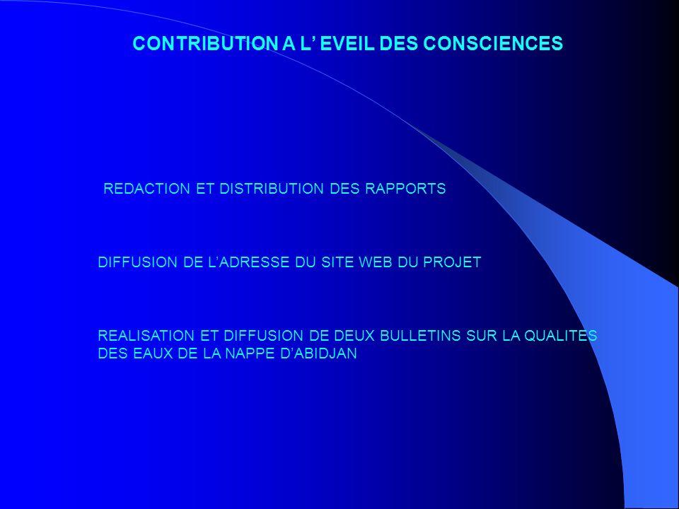 CONTRIBUTION A L' EVEIL DES CONSCIENCES