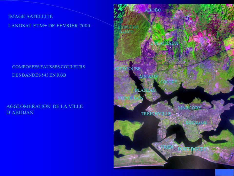 LANDSAT ETM+ DE FEVRIER 2000