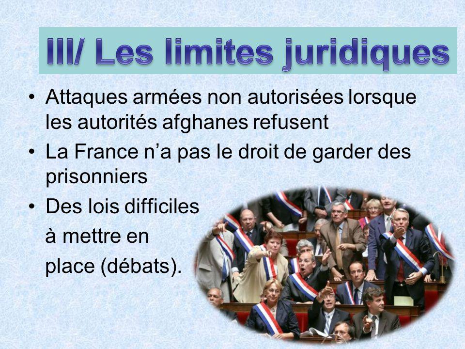 III/ Les limites juridiques