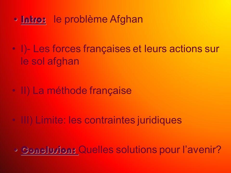 Intro: le problème Afghan