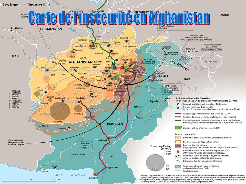 Carte de l insécurité en Afghanistan