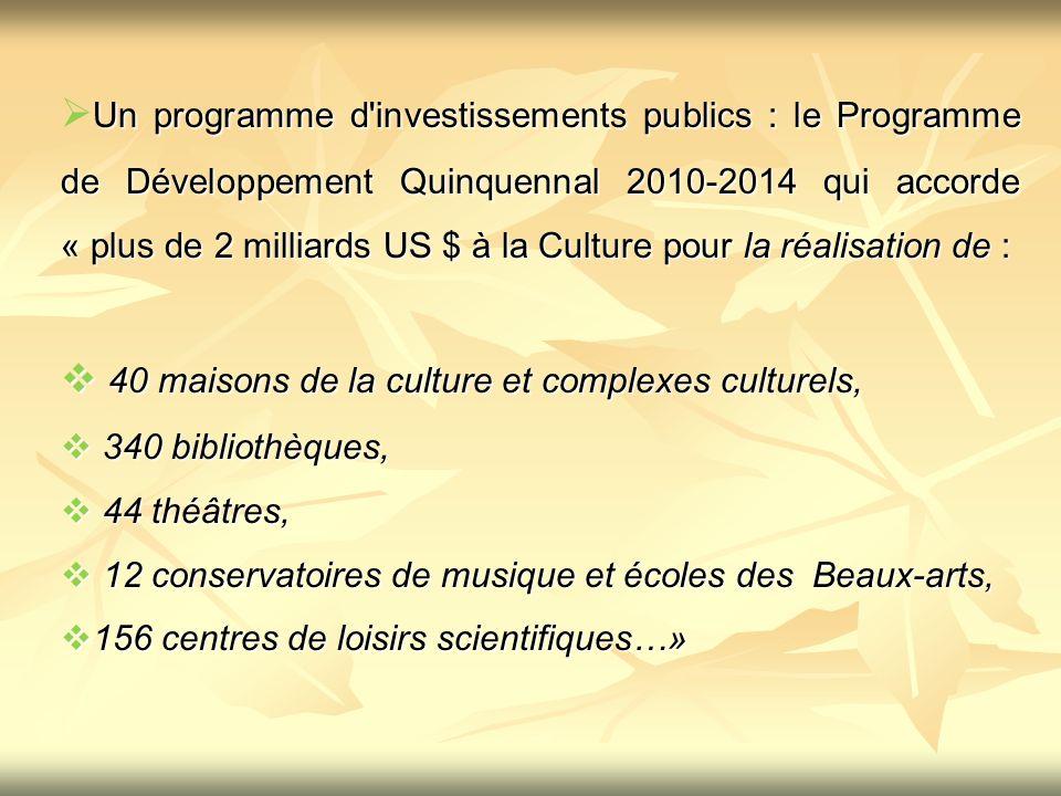 40 maisons de la culture et complexes culturels,