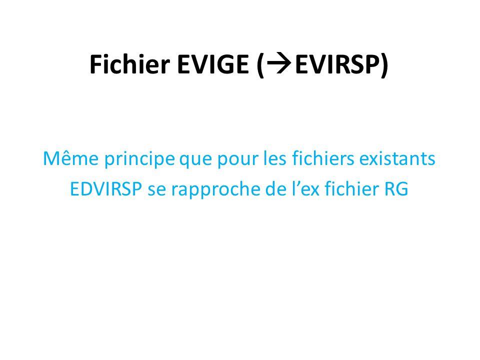 Fichier EVIGE (EVIRSP)