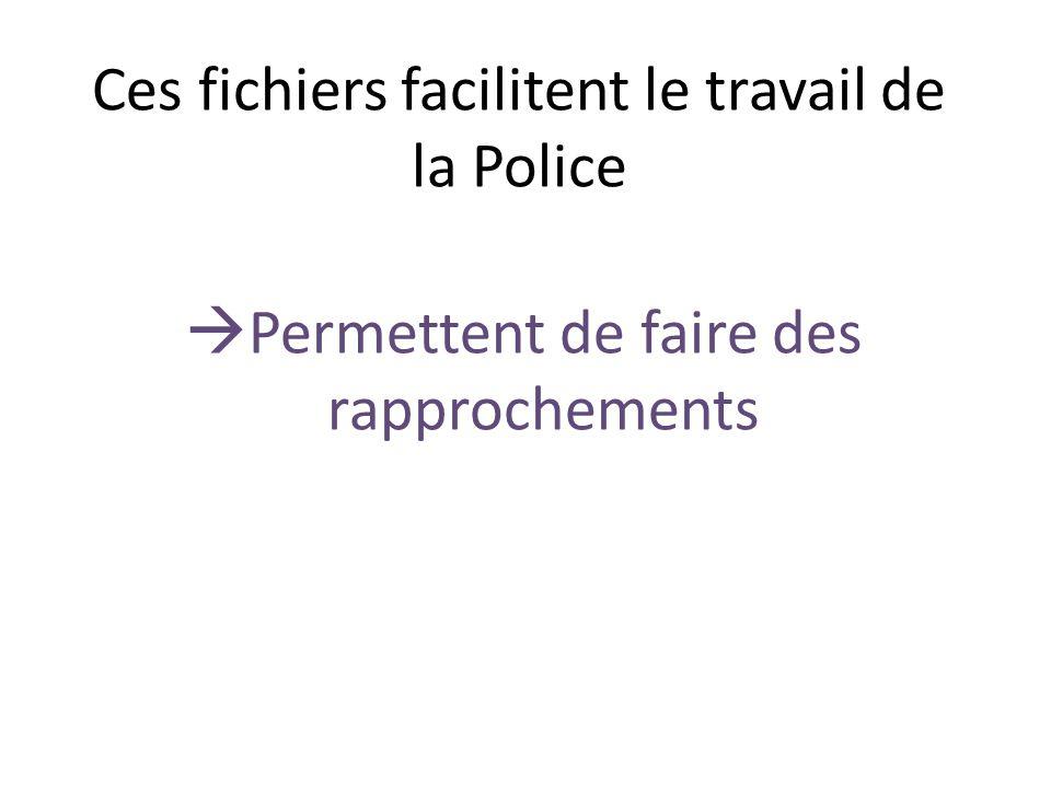Ces fichiers facilitent le travail de la Police