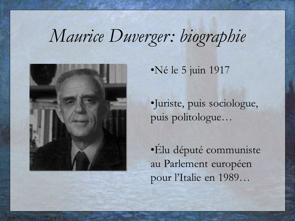 Maurice Duverger: biographie