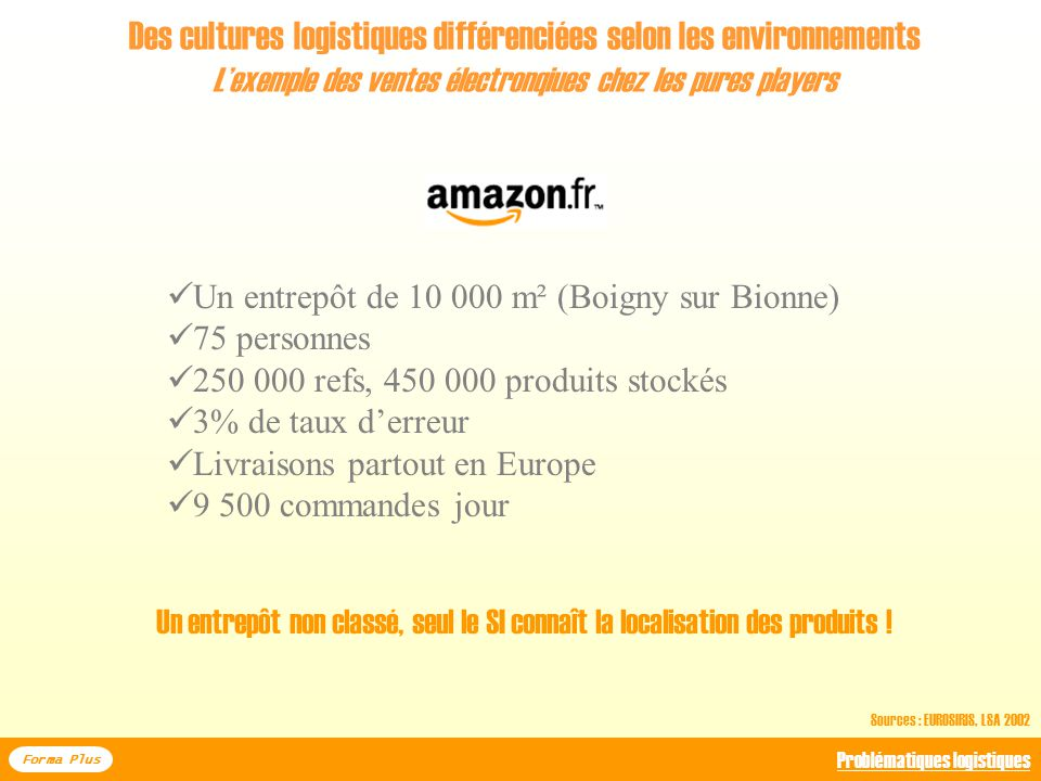 Des cultures logistiques différenciées selon les environnements
