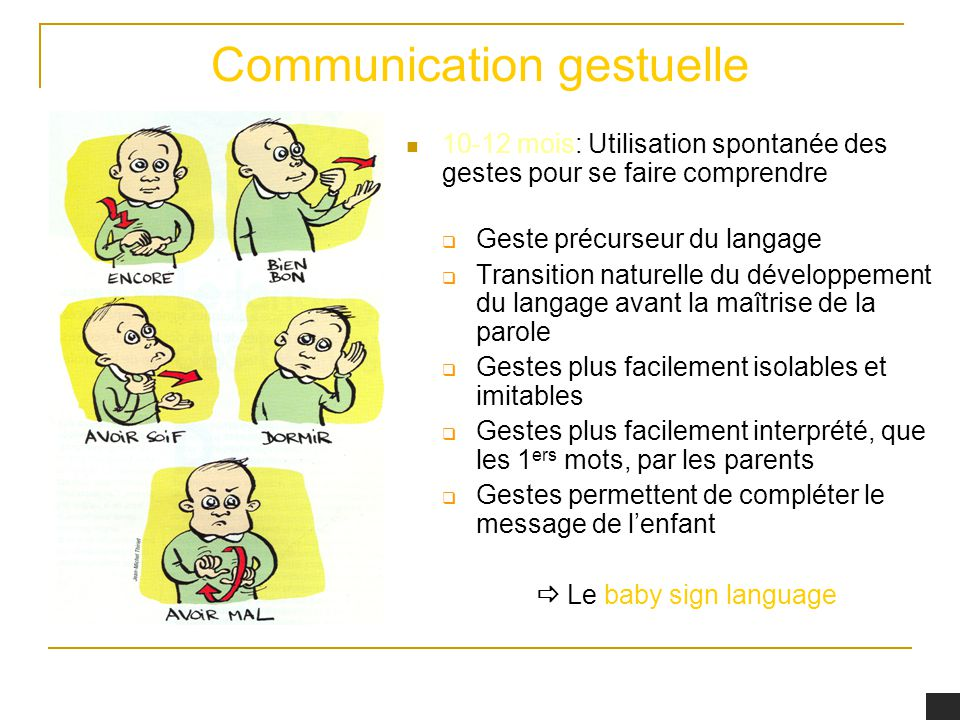Communication gestuelle