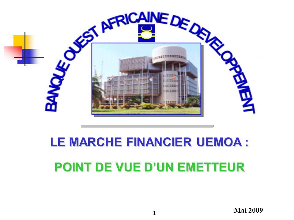 LE MARCHE FINANCIER UEMOA : POINT DE VUE D'UN EMETTEUR