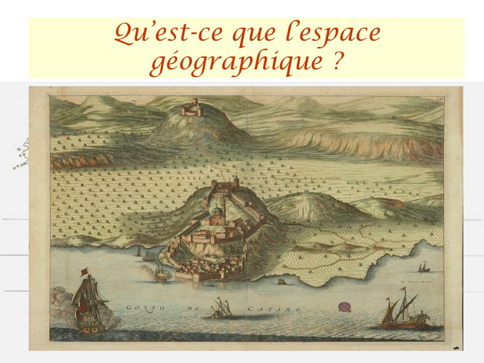 Qu'est-ce que l'espace géographique