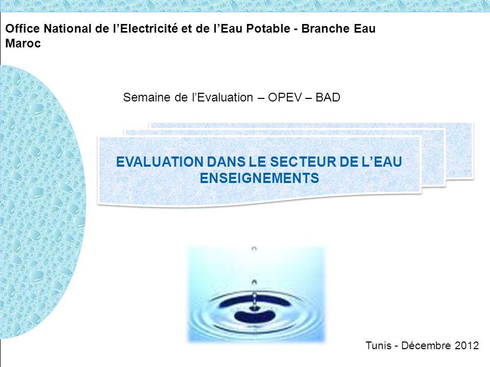 Evaluation dans le secteur de l eau ppt t l charger - Office national de l eau et des milieux aquatiques ...