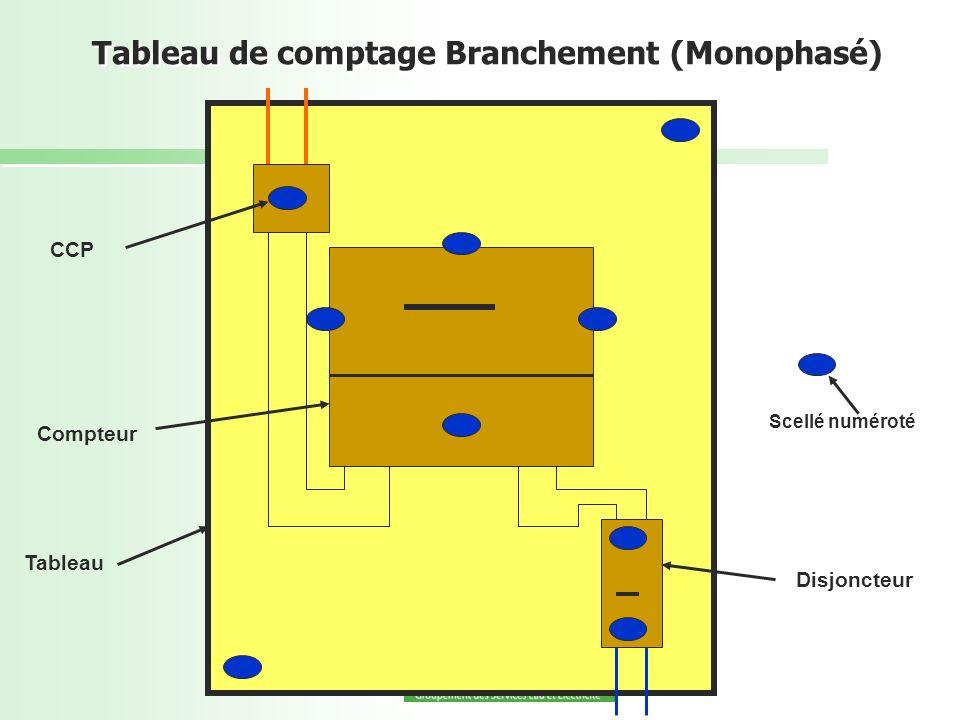 Tableau de comptage Branchement (Monophasé)
