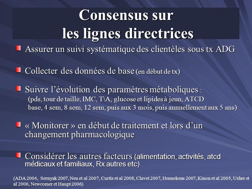Consensus sur les lignes directrices