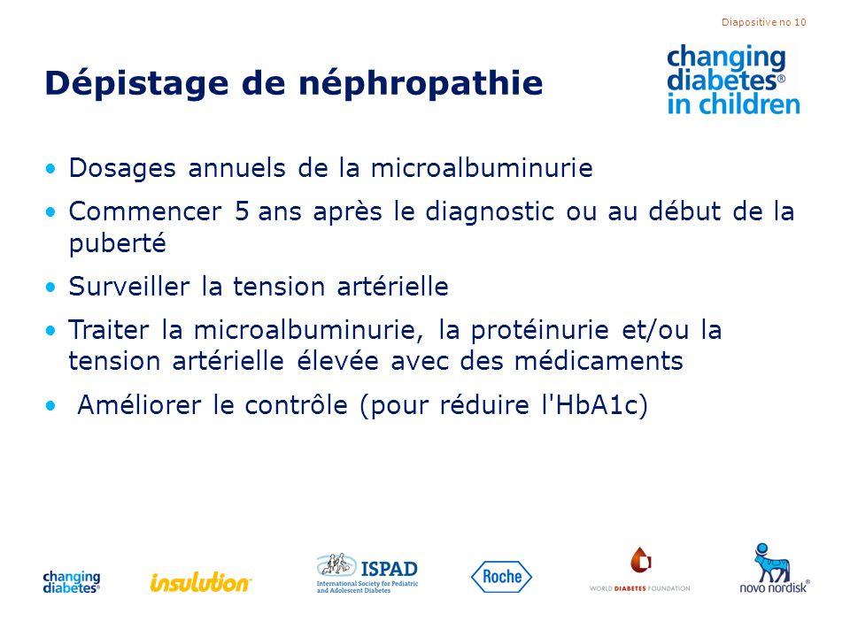 Dépistage de néphropathie