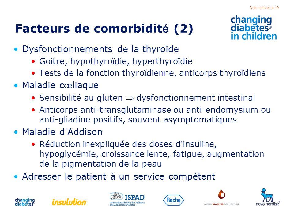 Facteurs de comorbidité (2)