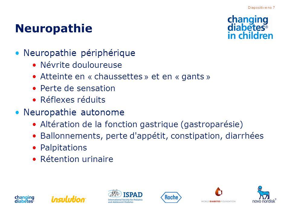 Neuropathie Neuropathie périphérique Neuropathie autonome