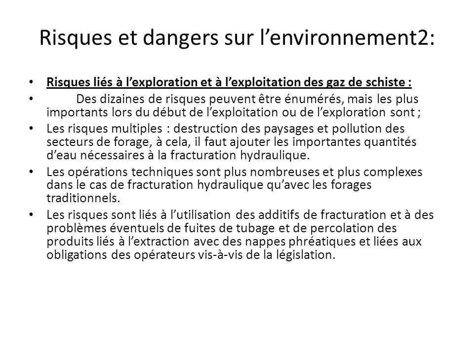 Risques et dangers sur l'environnement2: