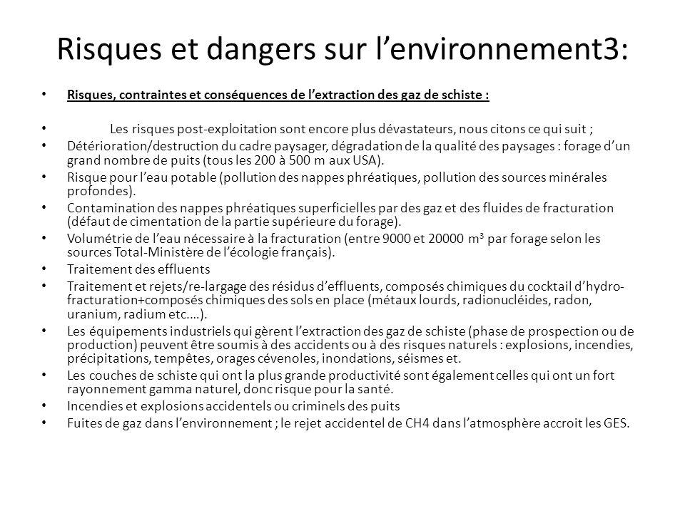 Risques et dangers sur l'environnement3: