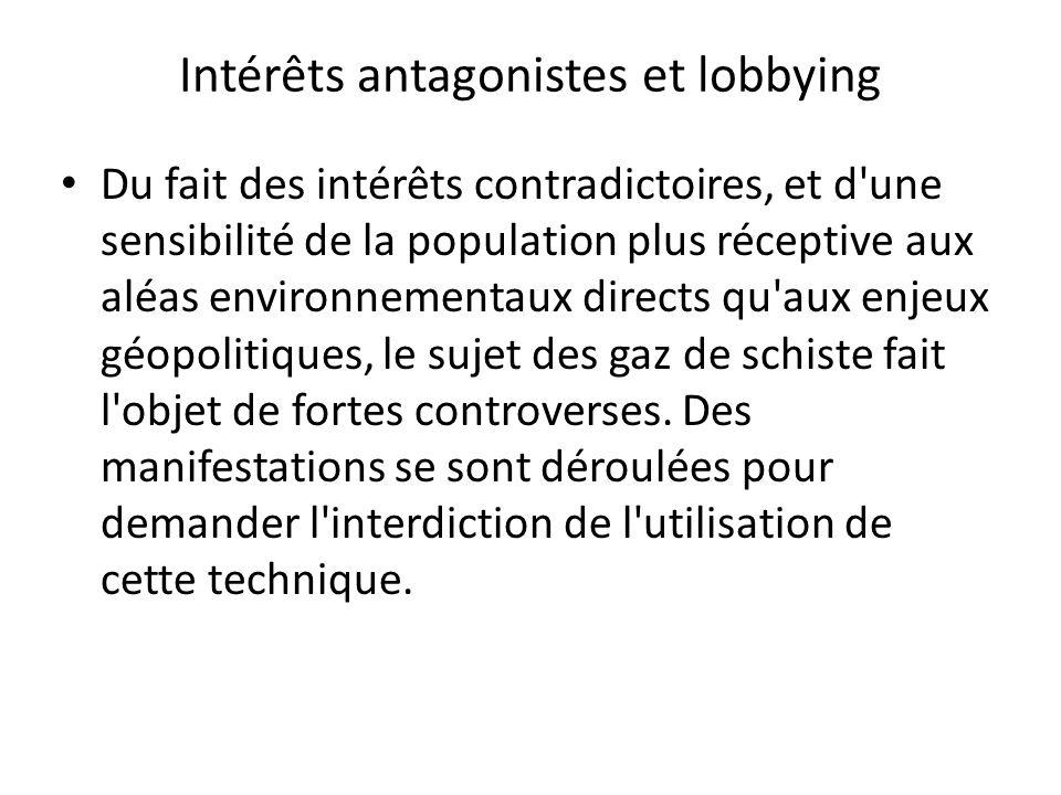 Intérêts antagonistes et lobbying