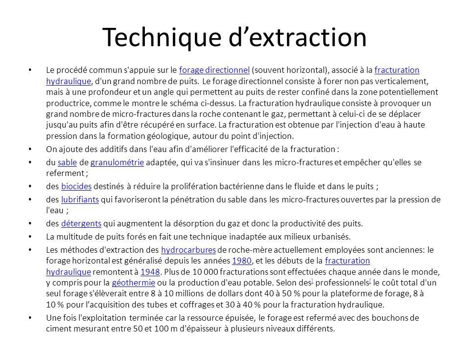 Technique d'extraction