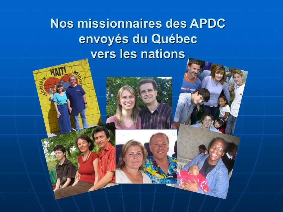 Nos missionnaires des APDC